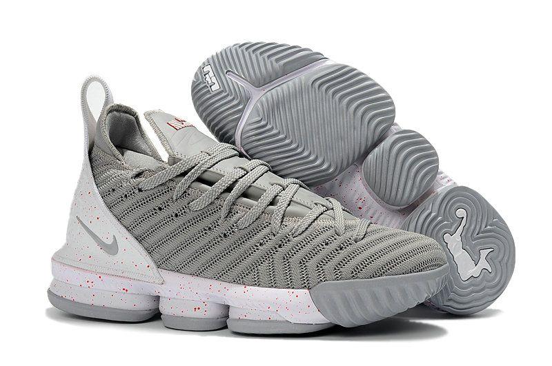 best service e3684 ee1b3 Kids Nike Lebrons 16 Cheap Silver Grey White | Cheap Lebron ...