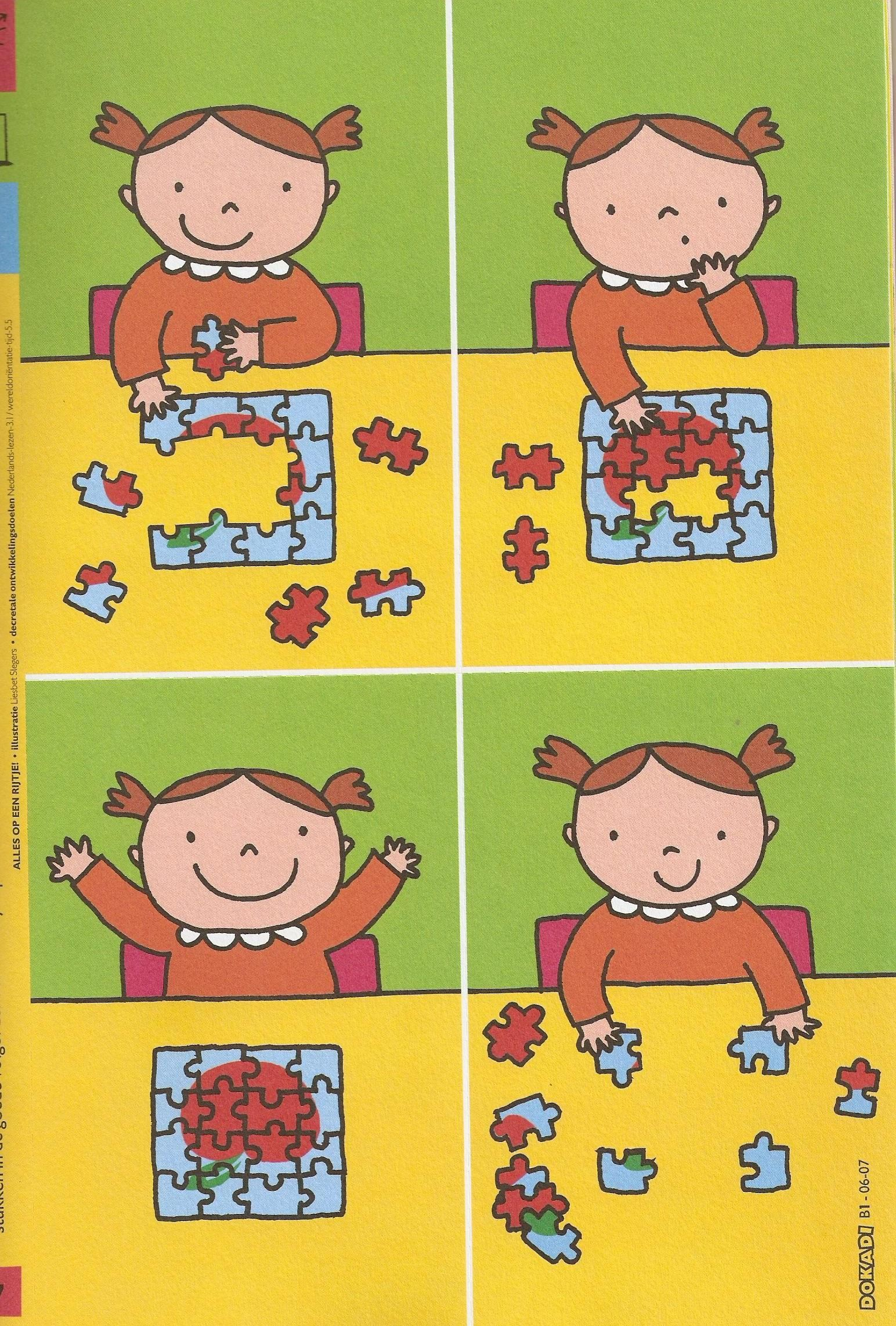 Stappenplan puzzelen | Sequence | Pinterest | Visible learning ...