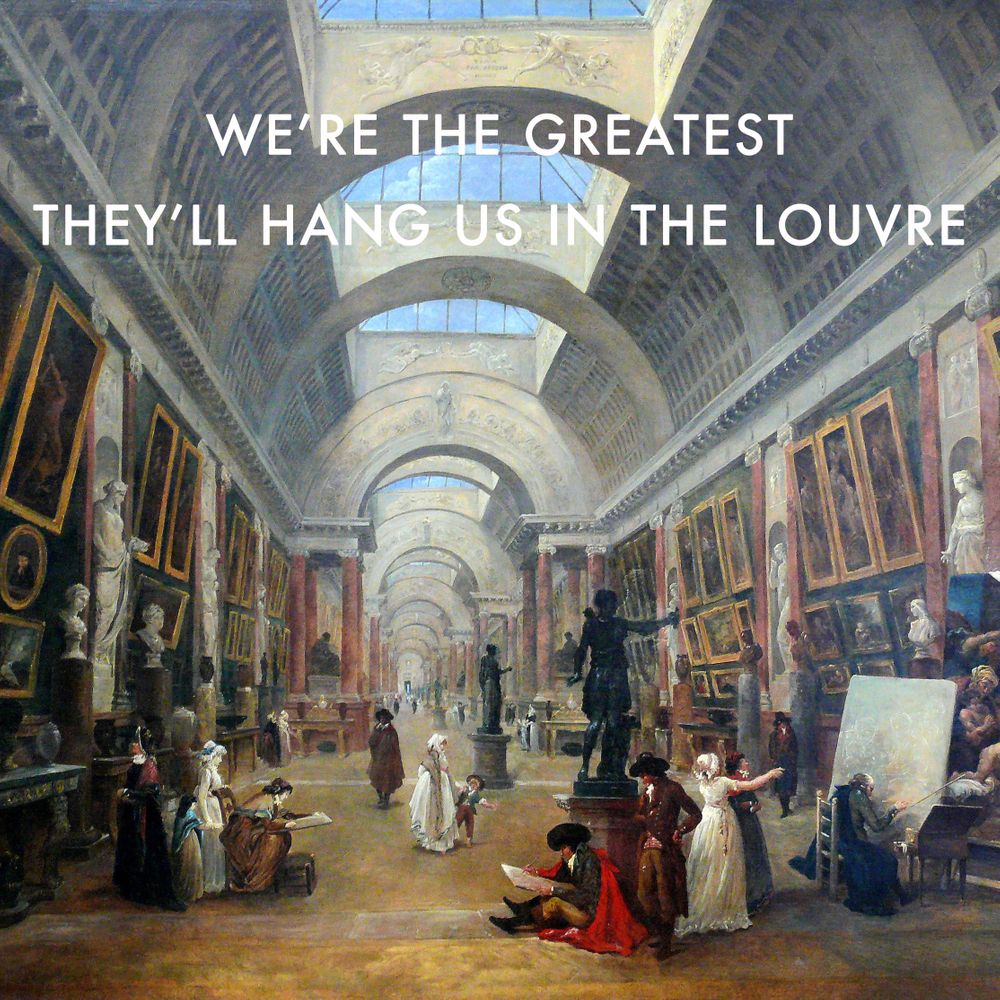 The Greatest In The Grande Galerie Du Louvre Sticker By Lorde Art History White 3 X3 Lorde Lyrics Metal Art Prints Lorde