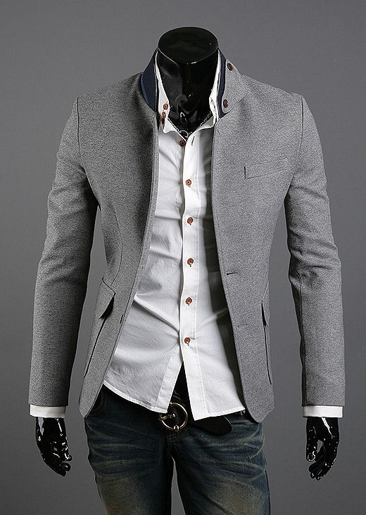 NYfashioncity Mens grey Jacket ... this screams Christian Grey ...
