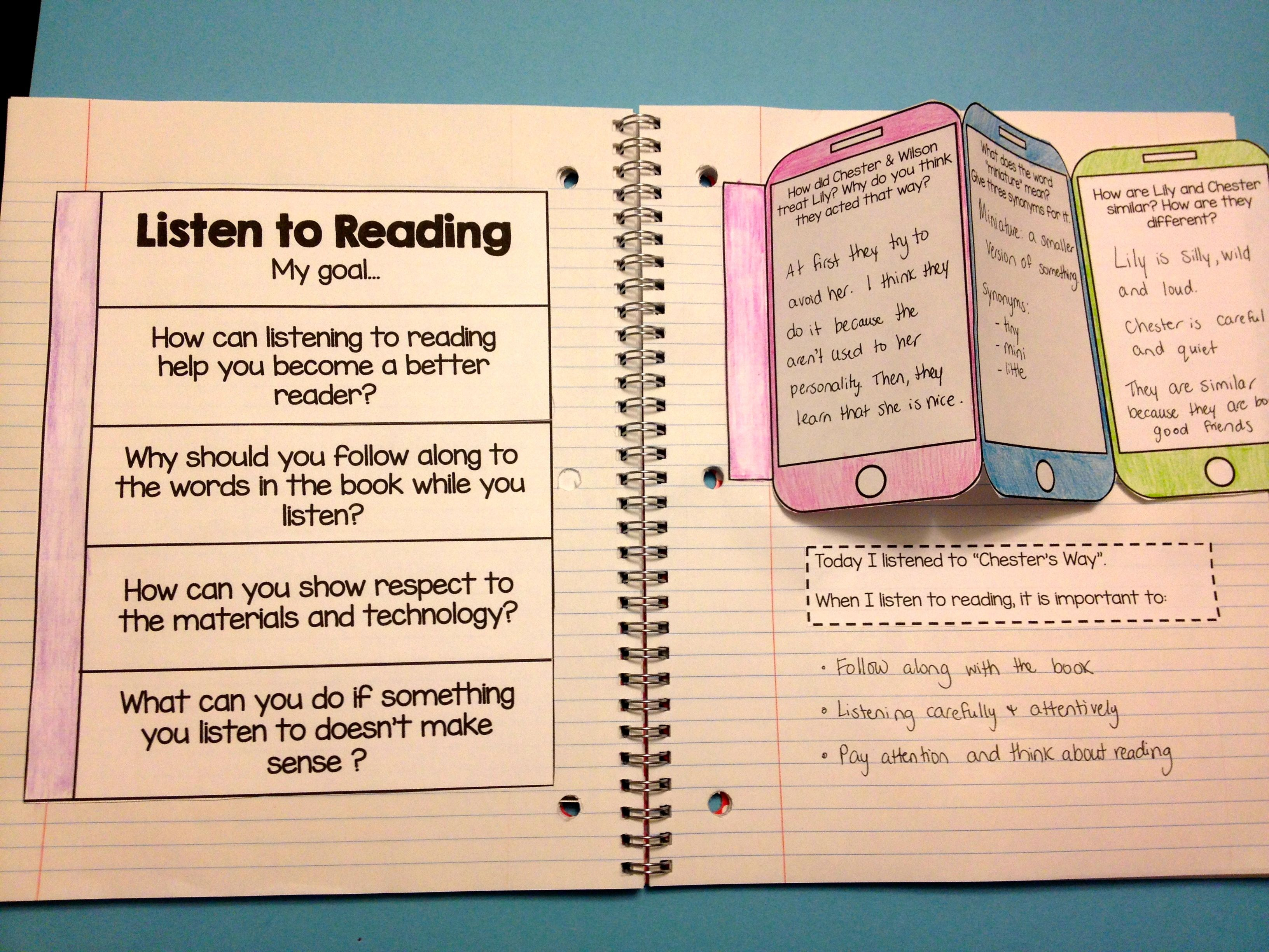 Daily 5 Interactive Notebook Freebie 2 Pages For Each Of