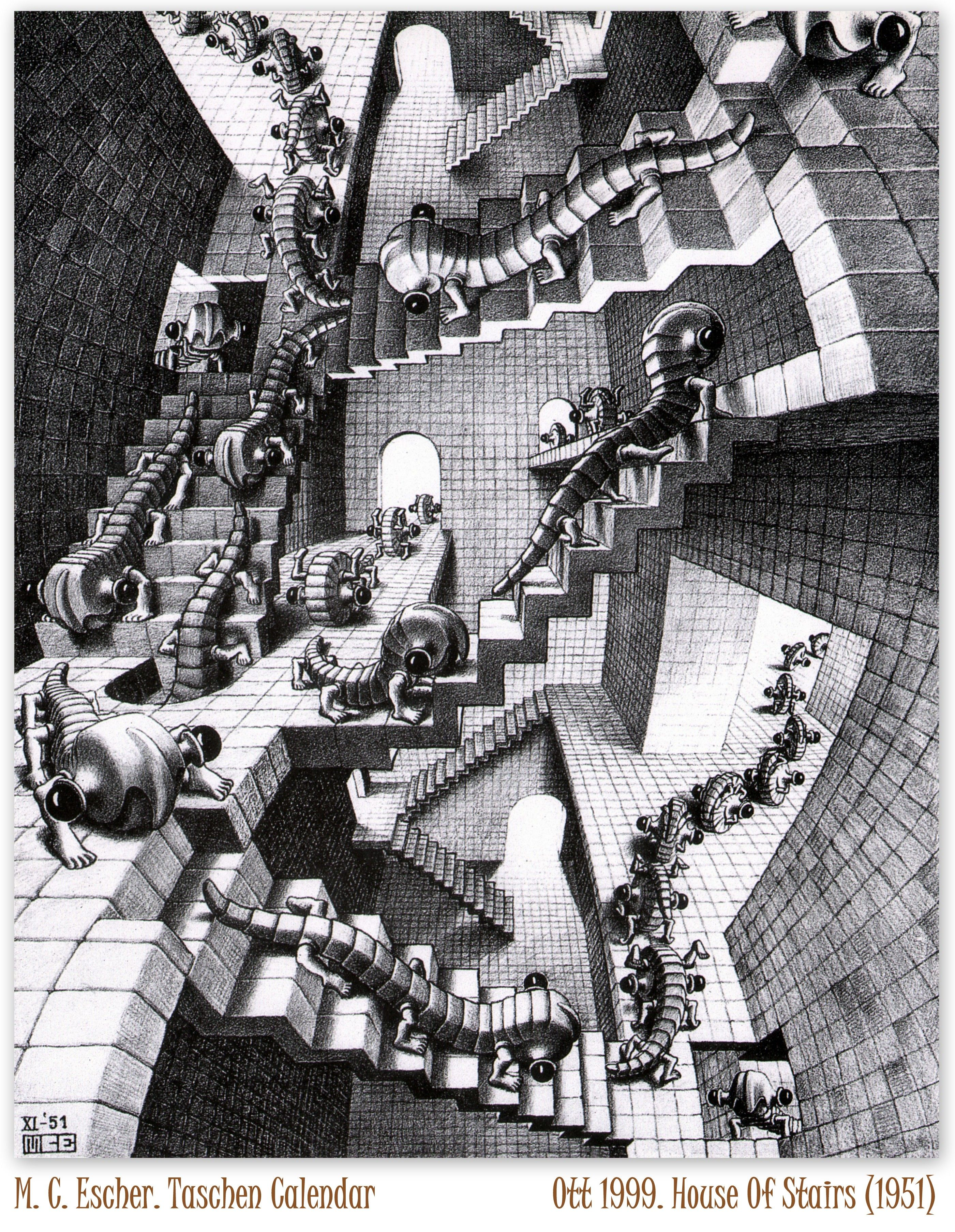 Maurits Cornelis Escher 1898 1972 House Of Stairs 1951
