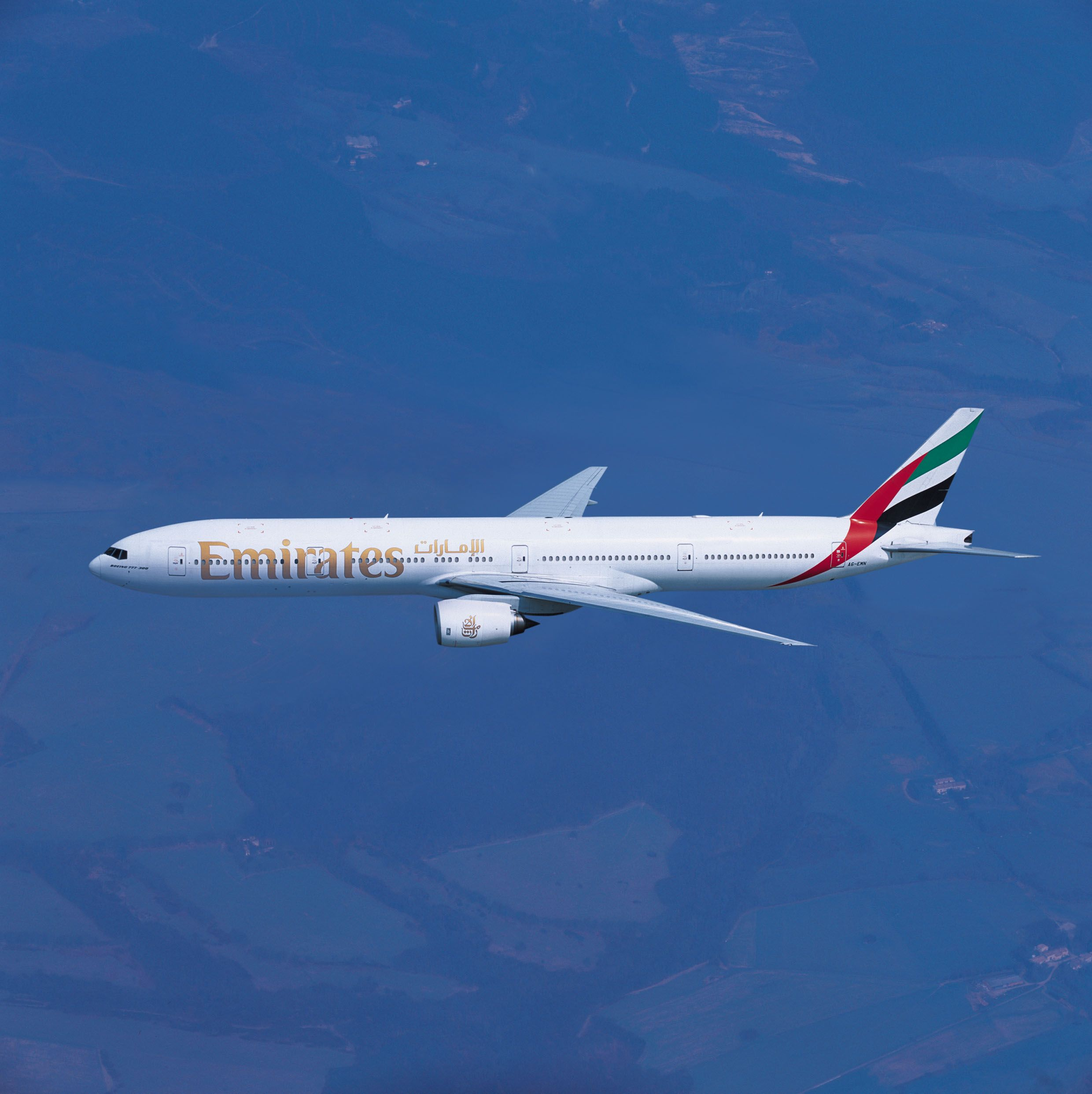 777 300 Commercial Aircraft Air Photo Emirates