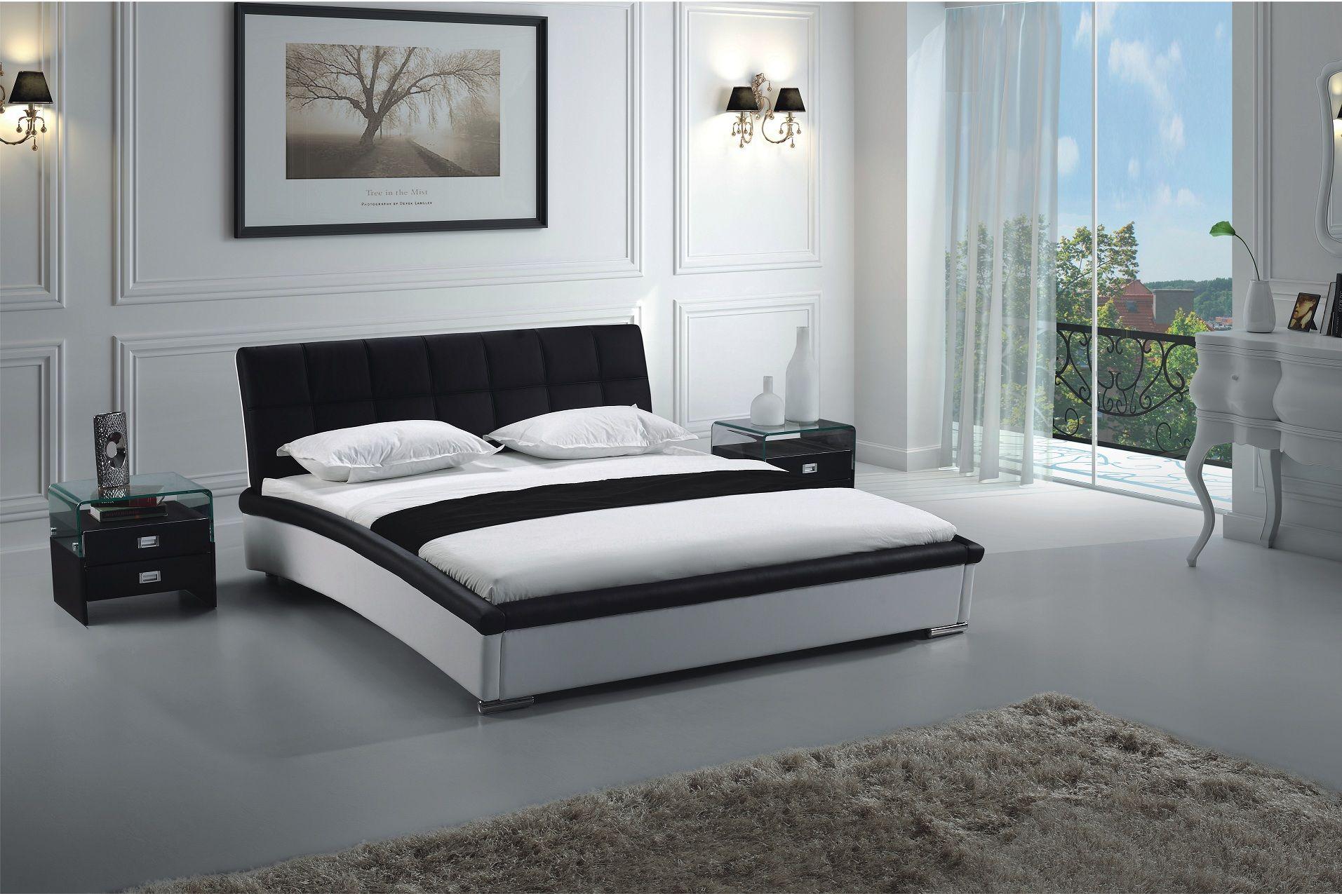 Sammy Kunstleder Bett Schwarz Weiss Weiss Schwarz 160 X 200 Online Kaufen Bei Woonio Bett Modern Luxusschlafzimmer Modernes Bett