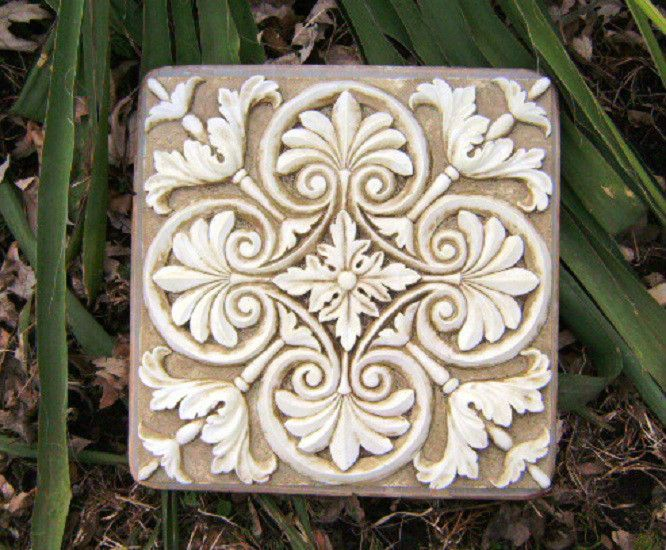 Tuscan plaque plastic garden casting plaque mold mould