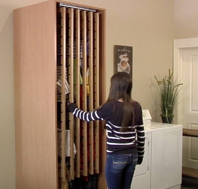 Laundry drying cupboard pull out racks laundry for Drying cabinet for clothes