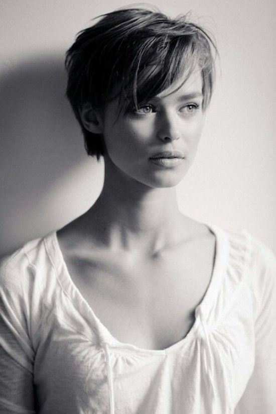 Short haircut with front fringe