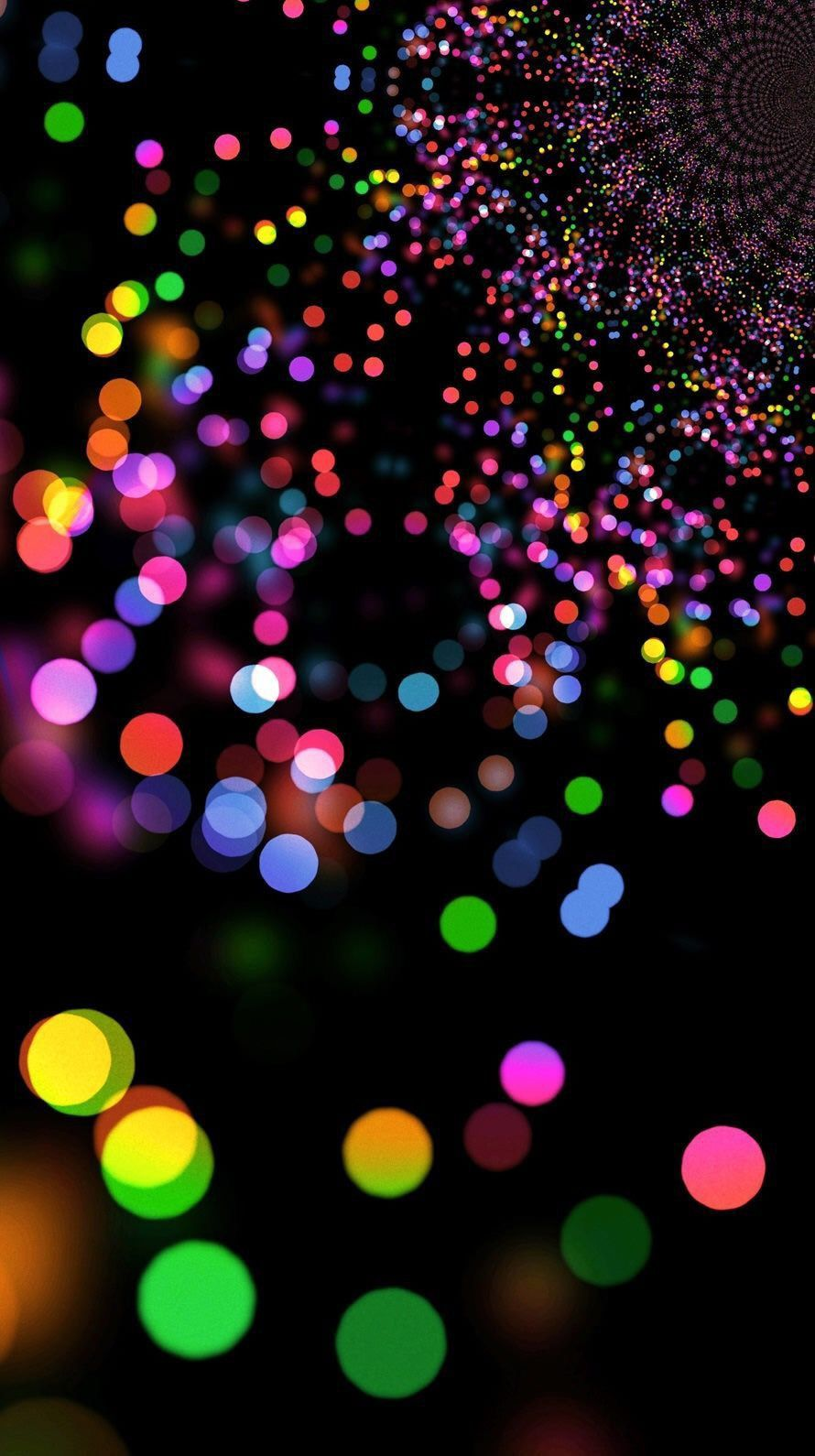 Bokehwallpaper Attractive Androidwallpaper Wallpapertumblr Wallpaperforme Bokeh Wallpaper Black Wallpaper Rainbow Wallpaper