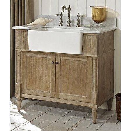 fairmont designs rustic chic 36 inch farmhouse vanity in weathered oak bathroom vanities and sink consoles - Rustic Bathroom Vanities 36 Inch