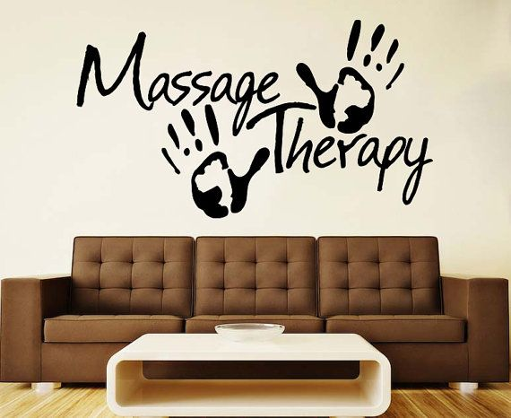 Spa Wall Vinyl Decal Massage Therapy Wall Vinyl Sticker Sign Etsy Massage Therapy Massage Room Design Vinyl Wall Decals