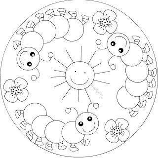 Gusanos De Seda Mandalas Para Ninos Mandalas Para Colorear
