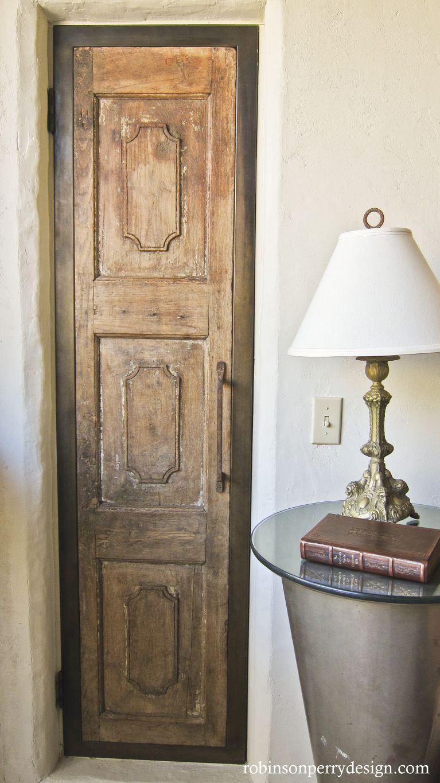 Narrow Closet Door From Vintage Shutter