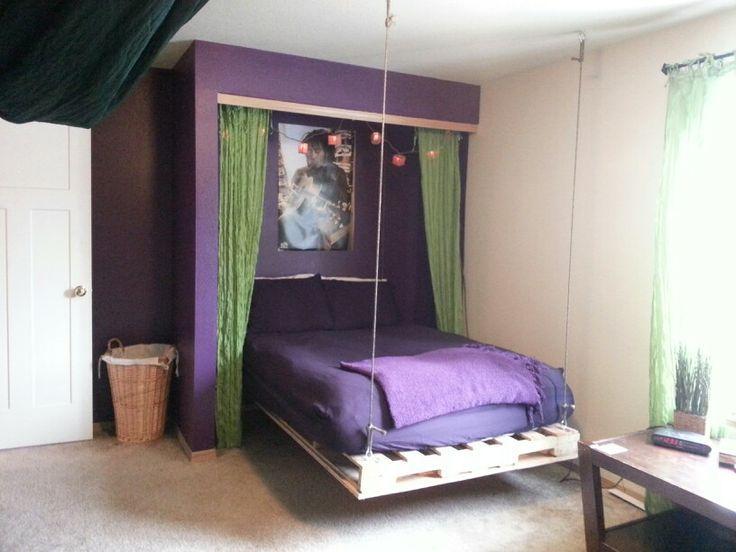 Ideas de inspiración para habitaciones de adolescentes con palets - camas con tarimas