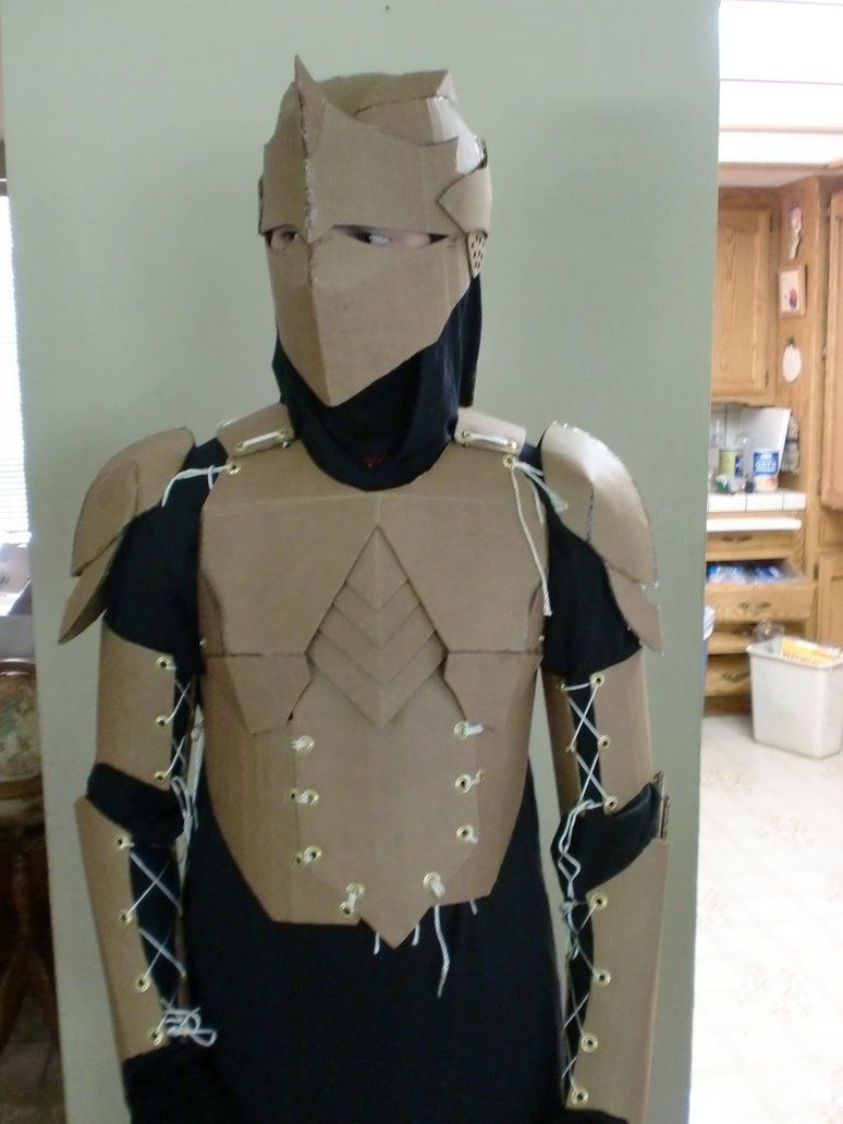 Cardboard armor prototype by ourobouros434 on deviantart for Cardboard armour template