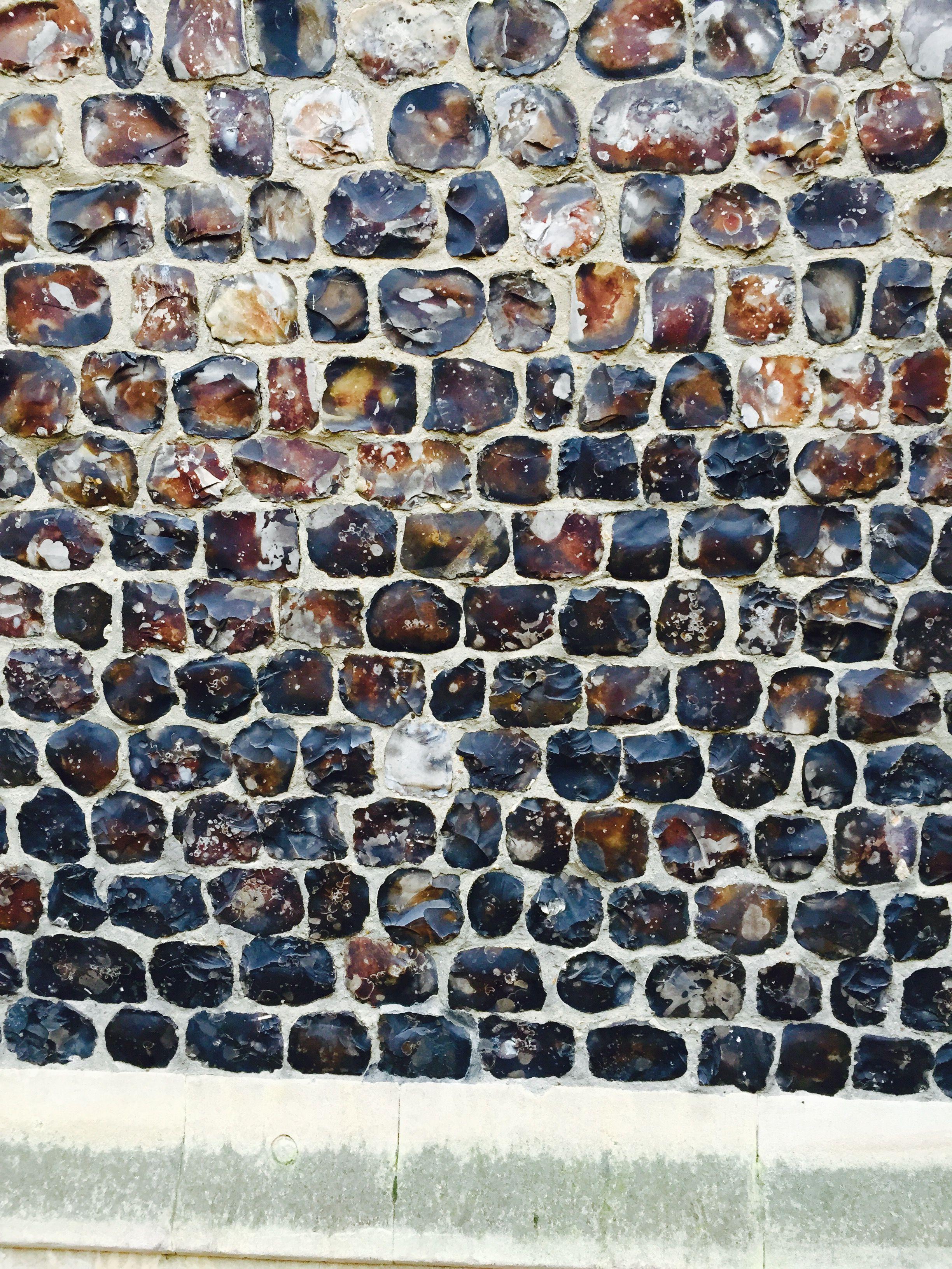 Historic Flint wall in Norwich. | Stone architecture ...