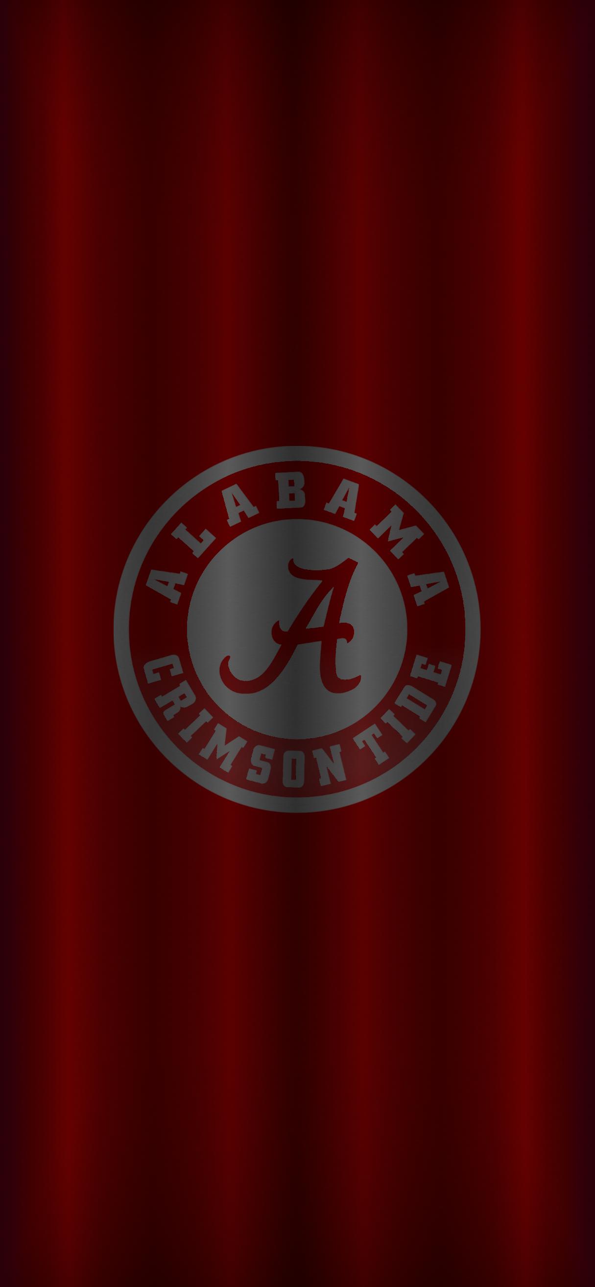 Alabama Crimson Tide Football logo iPhone wallpaper in