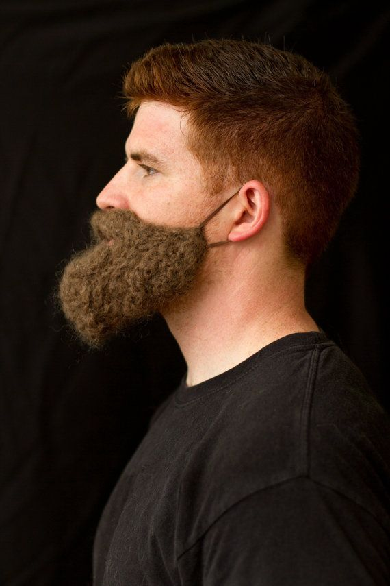 Jutting Jaw Yarn Beard. Crochet beard& mustache