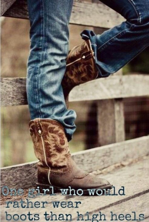 One Girl Who Would Rather Wear Boots Than High Heels for