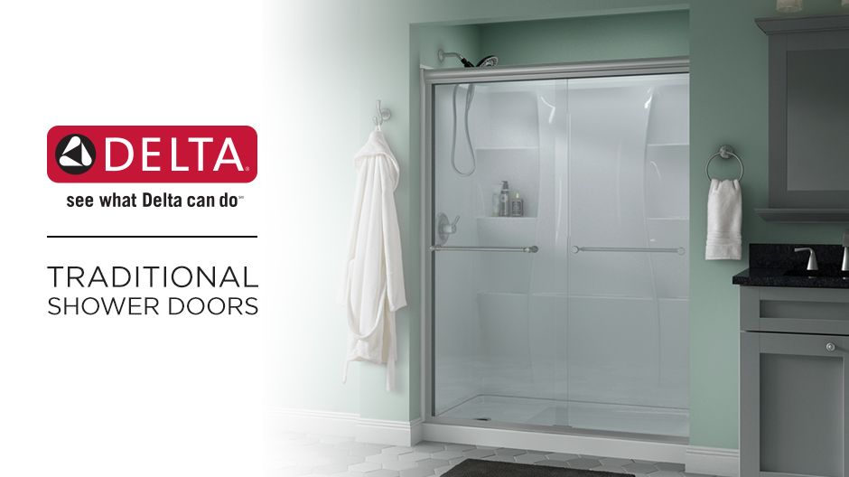 Delta Everly 60 In X 58 1 8 In Semi Frameless Traditional