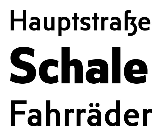 Ole Schäfer's FF City Street series, 2000, is a faithful digitization of street signage alphabets from 1930s Berlin.