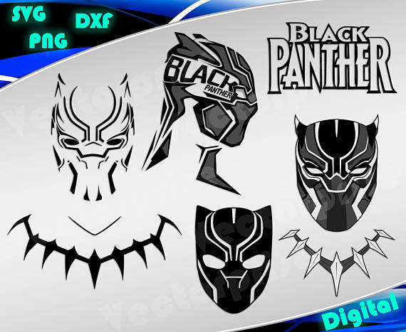 Black Panther Marvel Logo Stencil Free Vector And Clipart Ideas