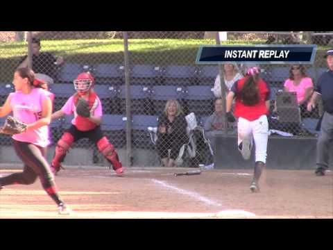 Emily Burrow: 18 Gold Catcher Collision Tag Out Vs Stompers
