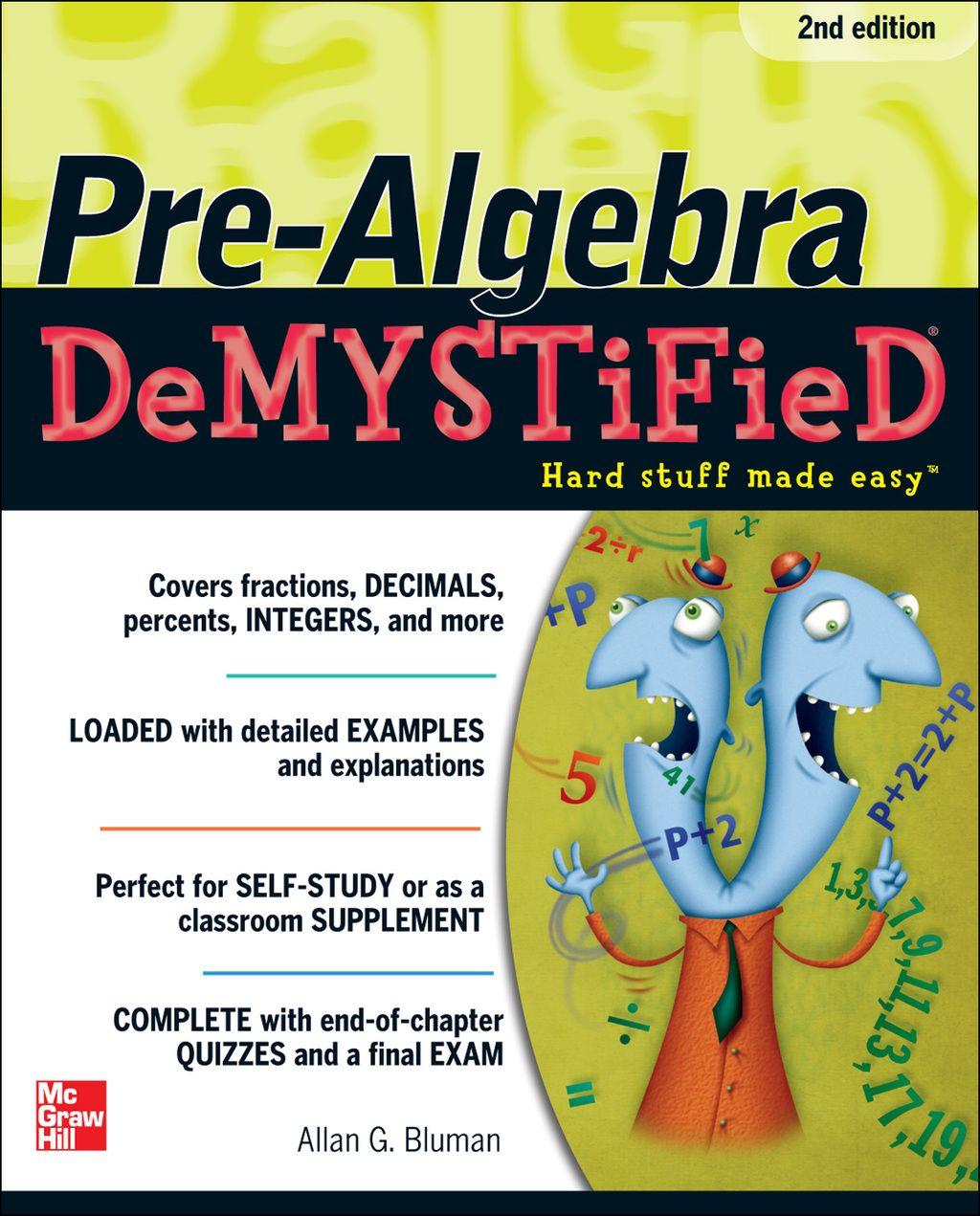 Pre Algebra Demystified Second Edition Ebook In