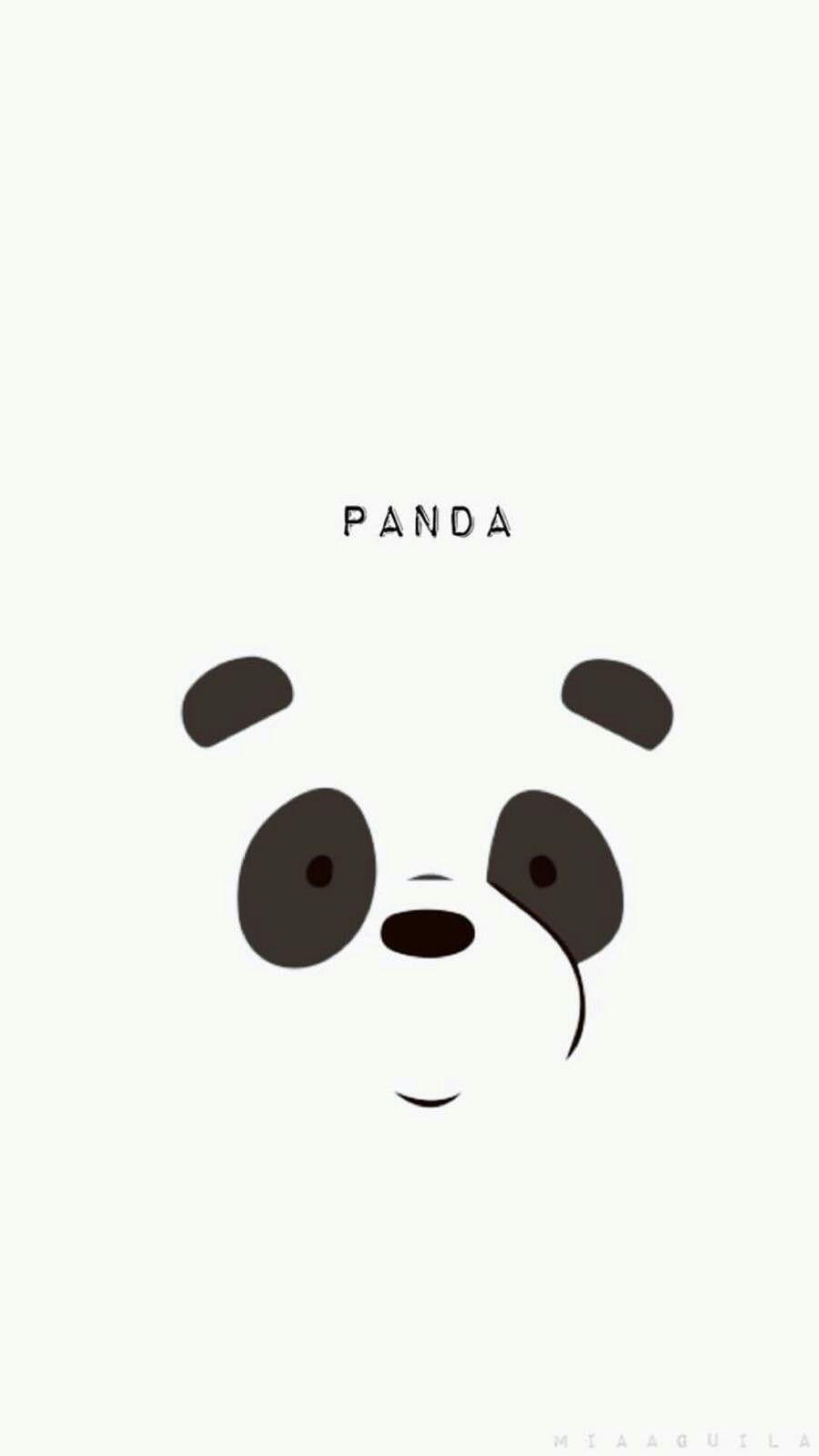 Minimal Simple Panda Back Iphone 6 Plus Wallpaper Panda Wallpapers Panda Wallpaper Iphone Iphone Wallpaper Vintage