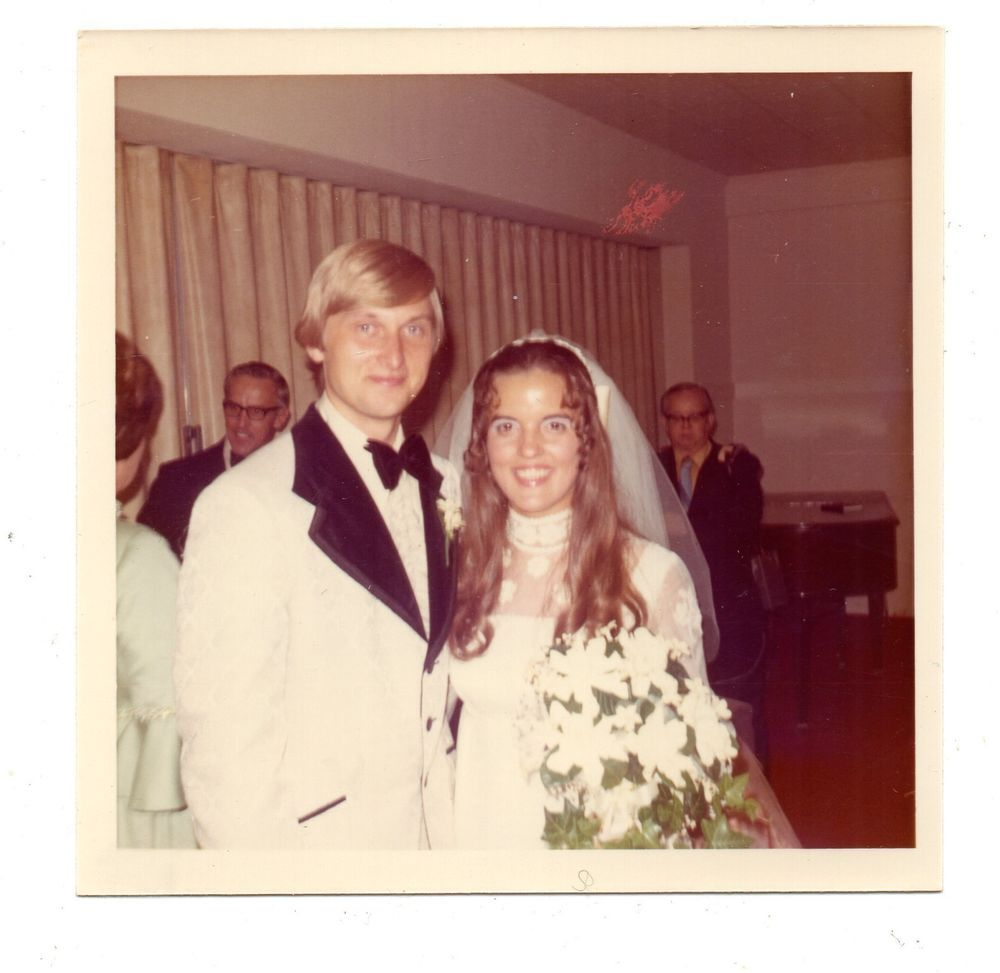Tricia Nixon Wedding Gown: Vintage Photo Beautiful Bride & Groom Wedding, Groovy 1970