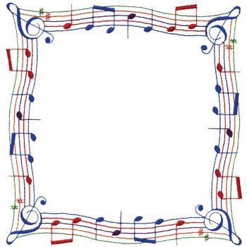 Music Note Border embroidery design | Ilustraciones ...