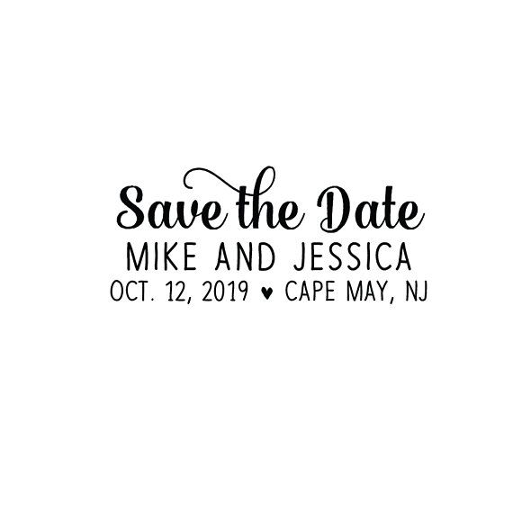 Self Inking Or Wood Personalized Custom Envelope Rsvp Rubber Stamp Heart Favor Wedding Save The Date Envelopes