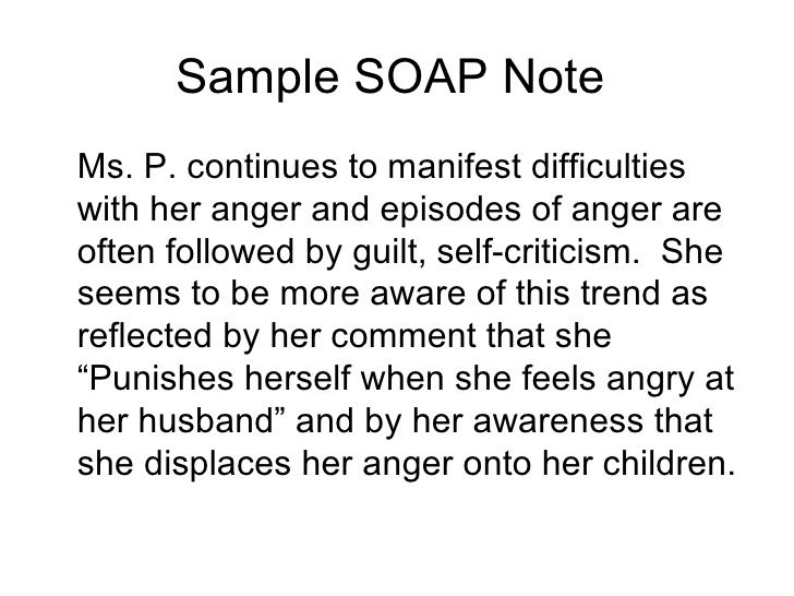 Soap Note Template Counseling Google Search ABA Pinte