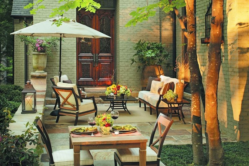 Mesmerizing summer patio furniture a very well laid out set of complimentary pieces the