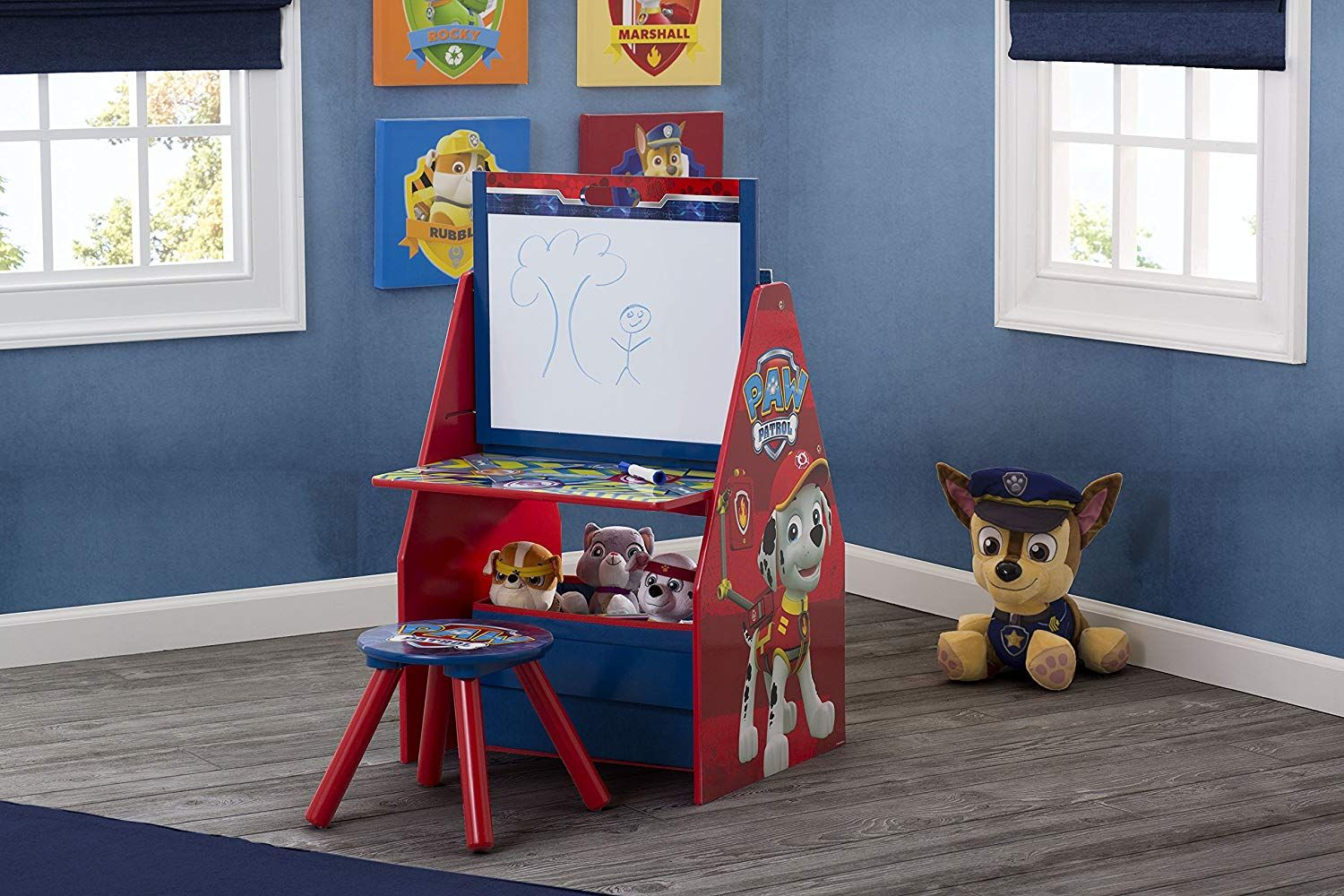 Deluxe Kids Art Easel Desk Stool Toy Table Organizer Paw Patrol Designed To Help Your Little One Express Their Creative Kinder Hocker Kindertisch Kinder Sofa