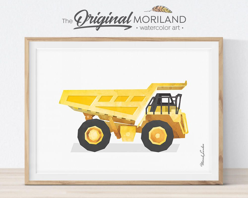 Dump Truck Wall Decor, Dump Truck Print, Construction Decor, Big Boy ...