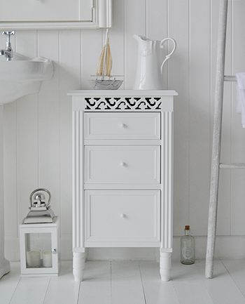 Bathroom Cabinets And Storage Furniture Wide Range Of Sizes Styles Freestanding Units The Westport White Cabinet With Drawers
