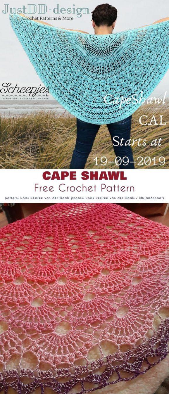 Lovely Cape Free Crochet Patterns