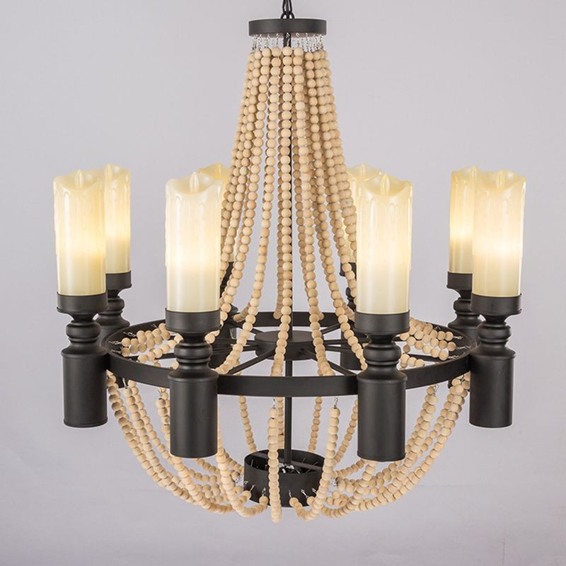 How To Hang Pendant Lights Retro Nordic Loft Vintage Big Wooden Beads Hang Pendant Lamp E27 E14