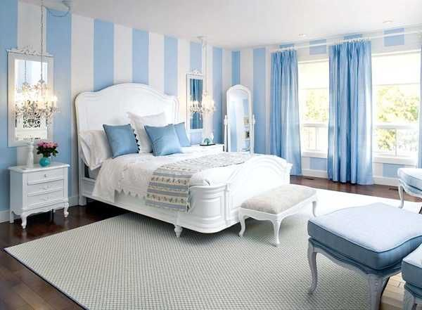 Blue And White Bedroom Design Light Blue Bedroom Colors 22 Calming Bedroom Decorating Ideas .