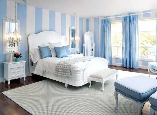 Light Blue Bedroom Colors 22 Calming Bedroom Decorating Ideas Striped Walls Bedroom Blue Bedroom Decor Light Blue Bedroom
