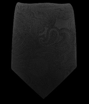 Designer Paisley - Black/Black (Skinny)