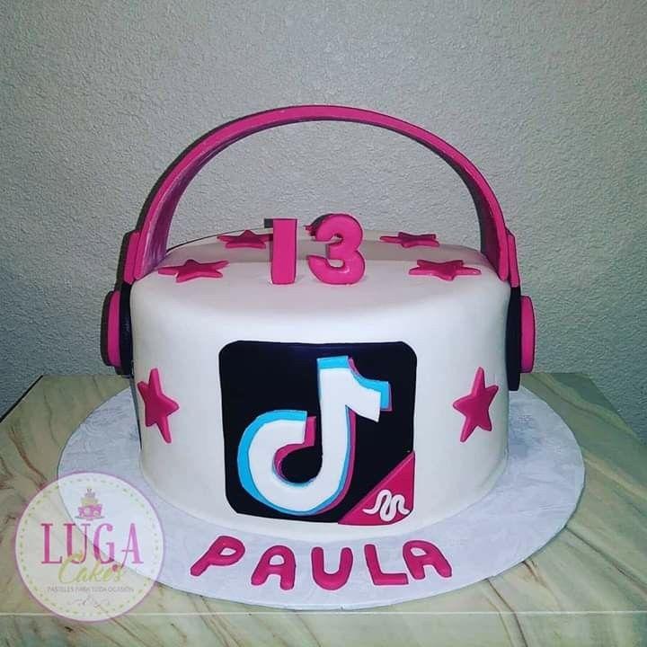 Tik Tok Headphones Cake 14th Birthday Cakes Brithday Cake Cake