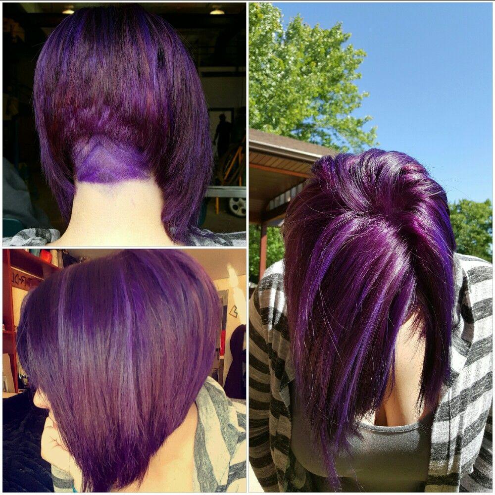 Purple Hair, Bob, Undercut