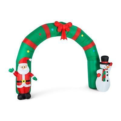 Outdoor Christmas Decoration Self Inflating Winter Wonderland Gate - inflatable outdoor christmas decorations