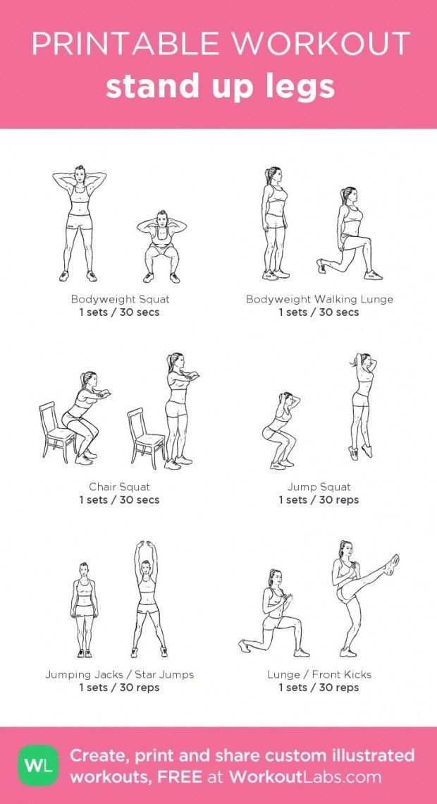 Various at home exercise sheet for each part of body