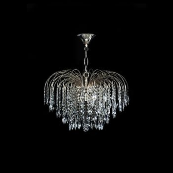 swarovski crystal waterfall chandelier in chrome - Swarovski Crystal Chandelier