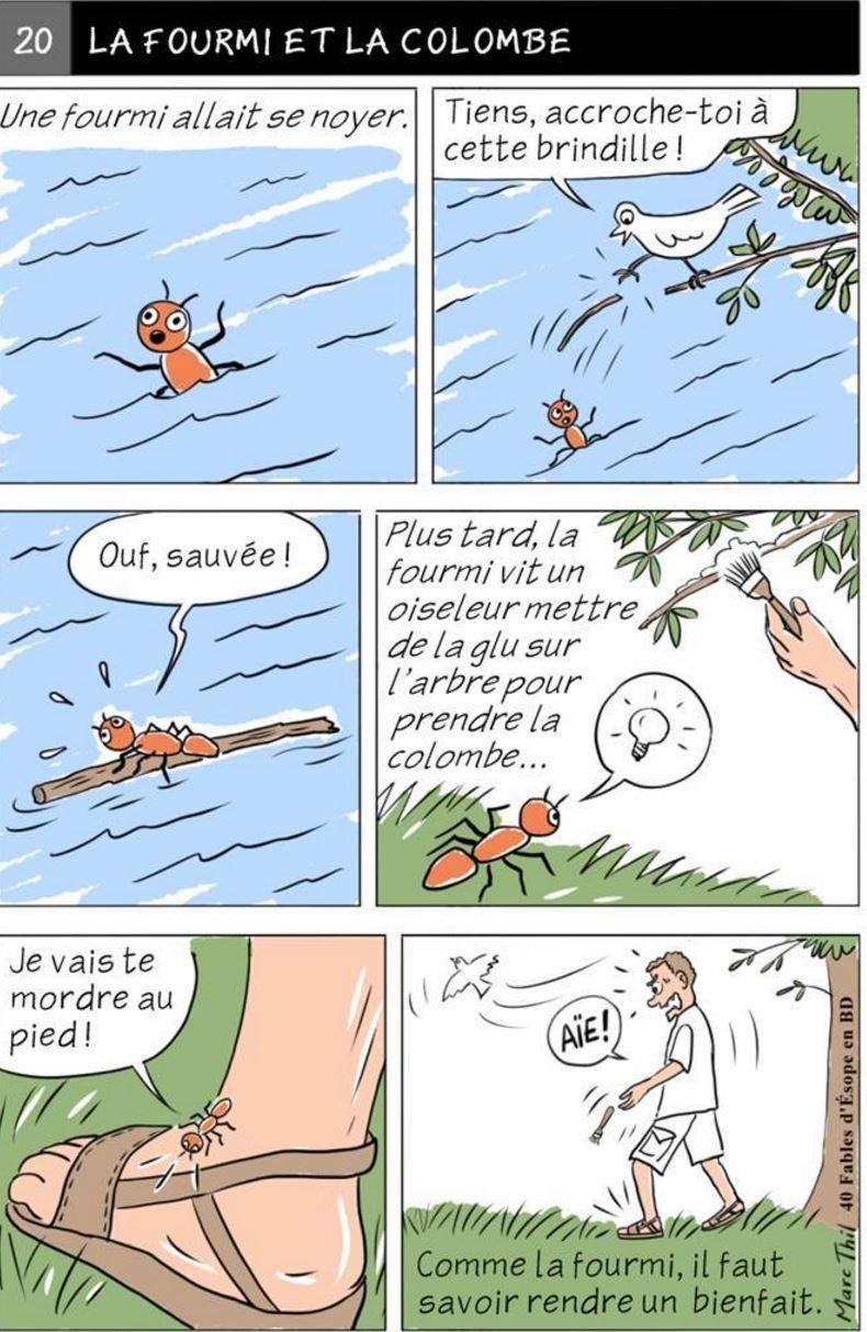 La colombe et la fourmi (La Fontaine, set by (Paul Bonneau