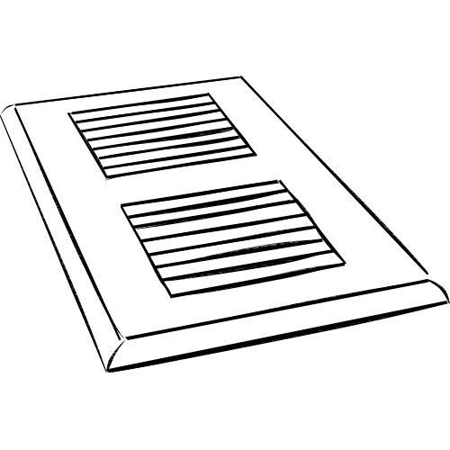 """4"""" x 12"""" Oak Surface Mount Vent Cover in Canyon"""