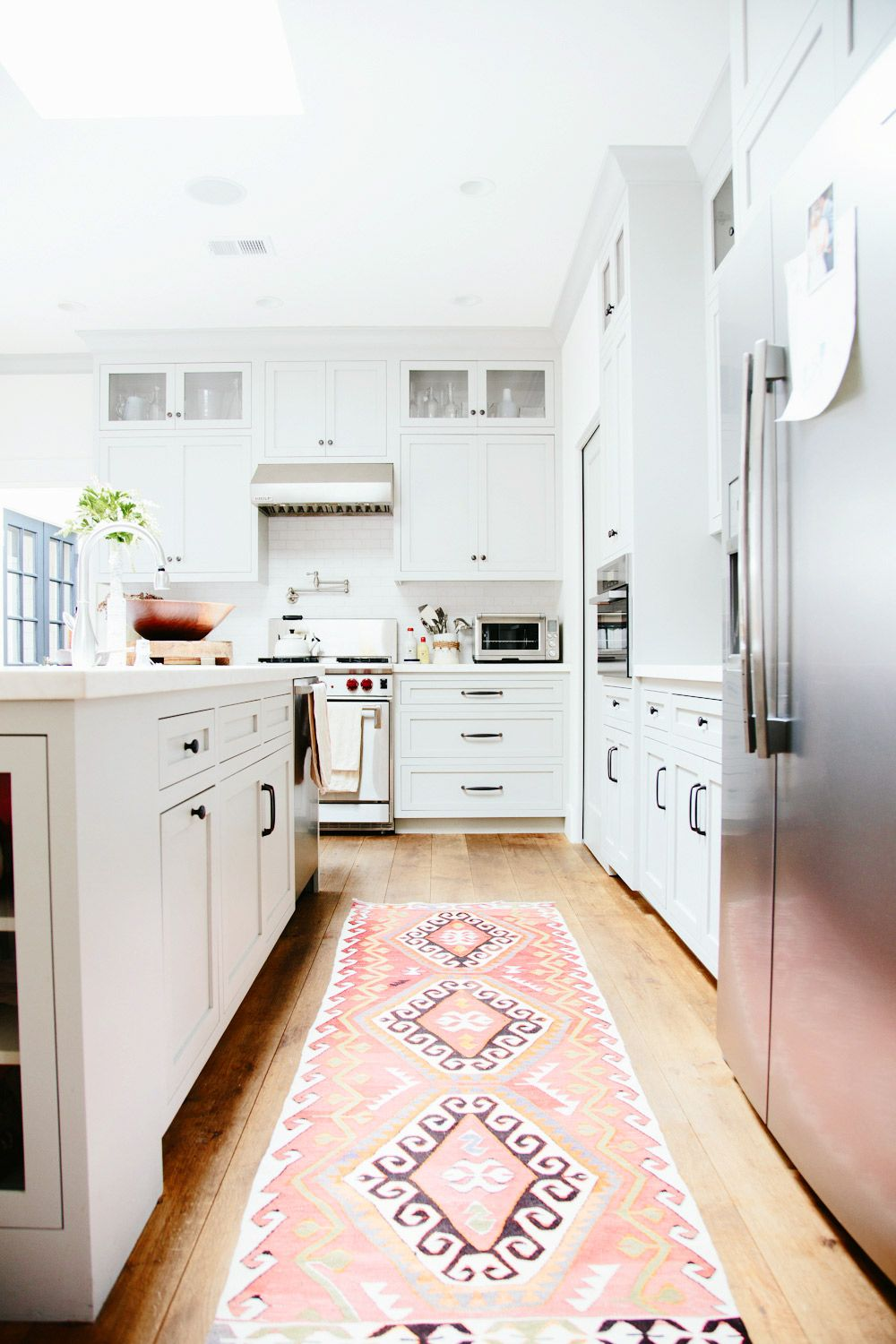 Vintage Persian Kilim & Turkish Rugs In The Kitchen  Light Wood Interesting Kitchen Rug Design Ideas