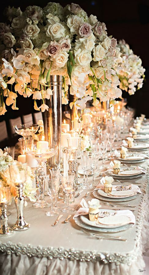 Tablescape Centerpiece pinned by wedding accessories and gifts specialists http://destinationweddingboutique.com